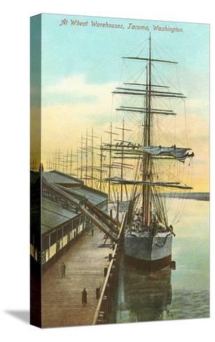 Tall Ships at Wheat Warehouse, Tacoma, Washington--Stretched Canvas Print