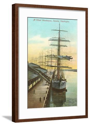 Tall Ships at Wheat Warehouse, Tacoma, Washington--Framed Art Print