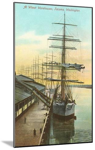 Tall Ships at Wheat Warehouse, Tacoma, Washington--Mounted Art Print