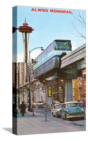 Alweg Monorail, Seattle, Washington--Stretched Canvas Print