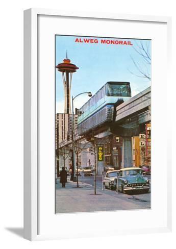 Alweg Monorail, Seattle, Washington--Framed Art Print