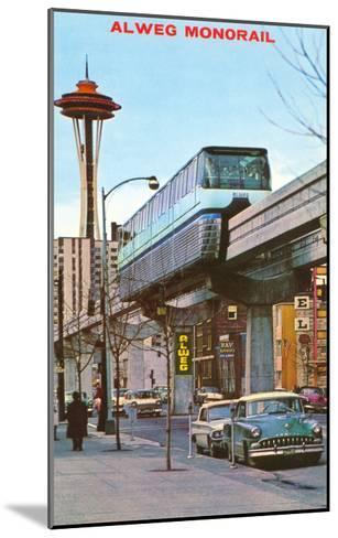 Alweg Monorail, Seattle, Washington--Mounted Art Print