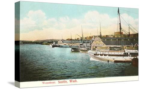 Waterfront, Seattle, Washington--Stretched Canvas Print