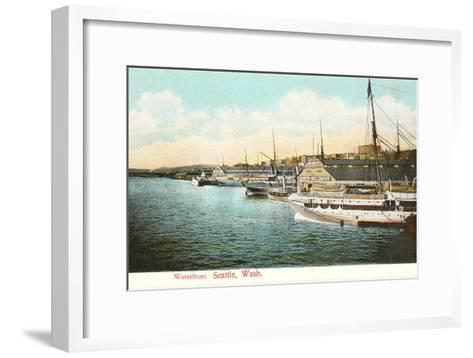 Waterfront, Seattle, Washington--Framed Art Print