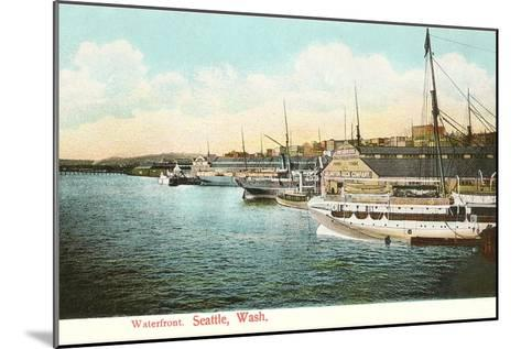 Waterfront, Seattle, Washington--Mounted Art Print