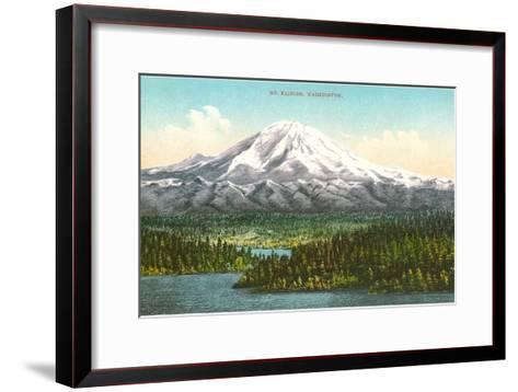 Mt. Rainier, Washington--Framed Art Print