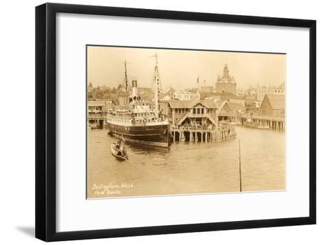 Waterfront, Bellingham, Washington--Framed Art Print