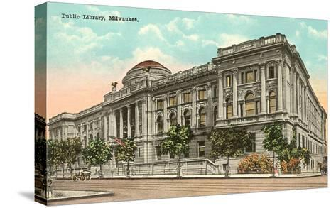 Public Library, Milwaukee, Wisconsin--Stretched Canvas Print