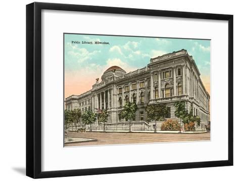 Public Library, Milwaukee, Wisconsin--Framed Art Print