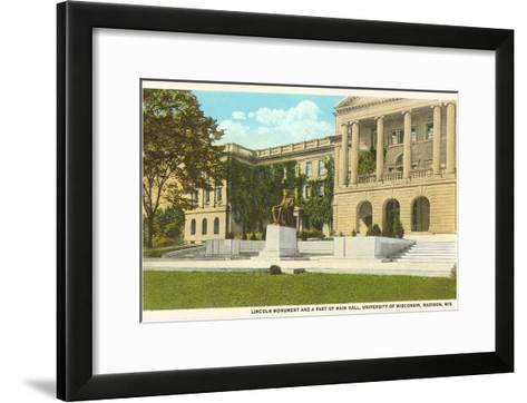 Lincoln Monument, University, Madison, Wisconsin--Framed Art Print