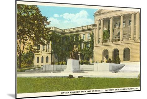 Lincoln Monument, University, Madison, Wisconsin--Mounted Art Print