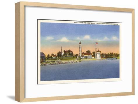 Lighthouse, Sturgeon Bay, Wisconsin--Framed Art Print