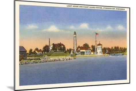 Lighthouse, Sturgeon Bay, Wisconsin--Mounted Art Print