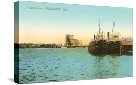 Boat Docks, Green Bay, Wisconsin--Stretched Canvas Print