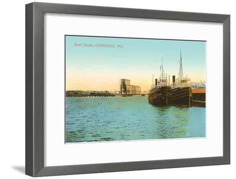 Boat Docks, Green Bay, Wisconsin--Framed Art Print