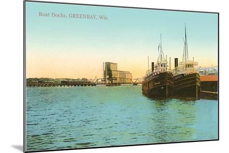 Boat Docks, Green Bay, Wisconsin--Mounted Art Print
