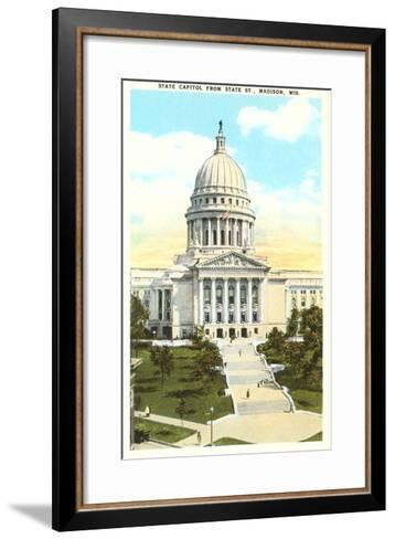 State Capitol, Madison, Wisconsin--Framed Art Print