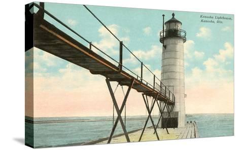 Lighthouse, Kenosha, Wisconsin--Stretched Canvas Print