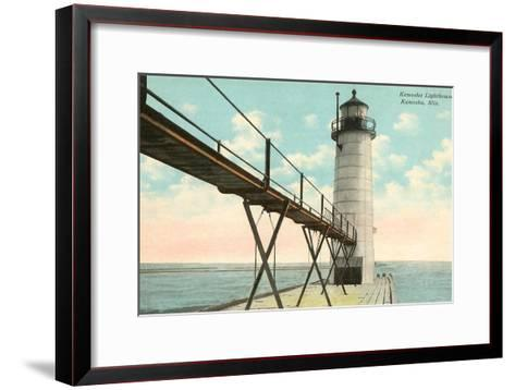 Lighthouse, Kenosha, Wisconsin--Framed Art Print