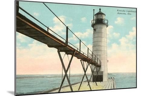 Lighthouse, Kenosha, Wisconsin--Mounted Art Print