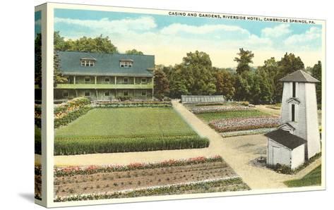 Gardens, Riverside Hotel, Cambridge Springs, Pennsylvania--Stretched Canvas Print