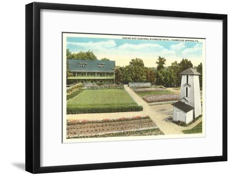 Gardens, Riverside Hotel, Cambridge Springs, Pennsylvania--Framed Art Print