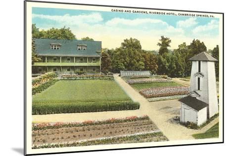Gardens, Riverside Hotel, Cambridge Springs, Pennsylvania--Mounted Art Print