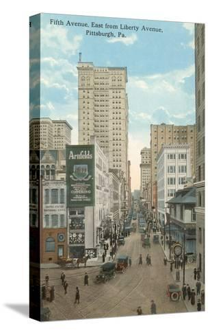 Fifth Avenue, Pittsburgh, Pennsylvania--Stretched Canvas Print