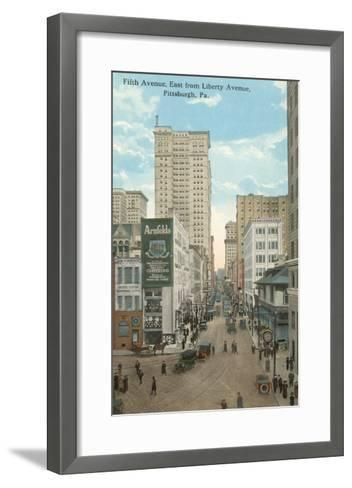 Fifth Avenue, Pittsburgh, Pennsylvania--Framed Art Print