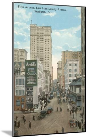 Fifth Avenue, Pittsburgh, Pennsylvania--Mounted Art Print