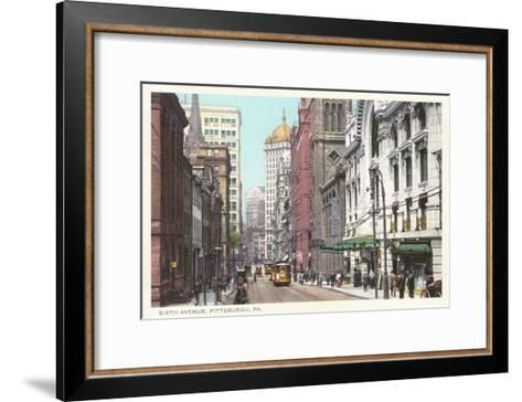 Sixth Avenue, Pittsburgh, Pennsylvania--Framed Art Print