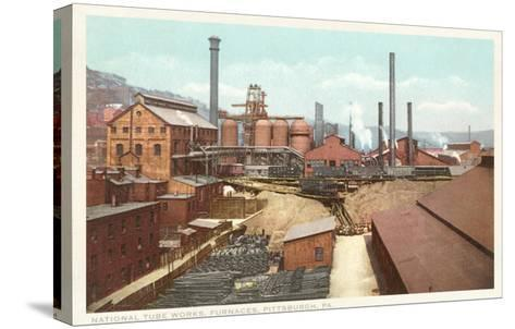 Steel Works, Pittsburgh, Pennsylvania--Stretched Canvas Print