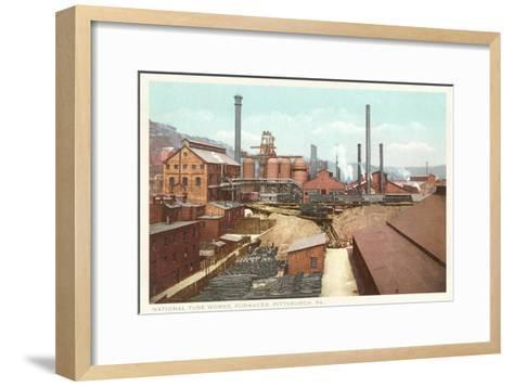 Steel Works, Pittsburgh, Pennsylvania--Framed Art Print