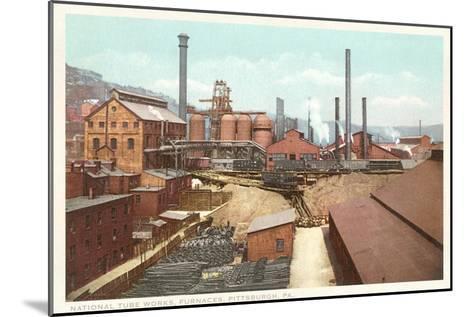 Steel Works, Pittsburgh, Pennsylvania--Mounted Art Print
