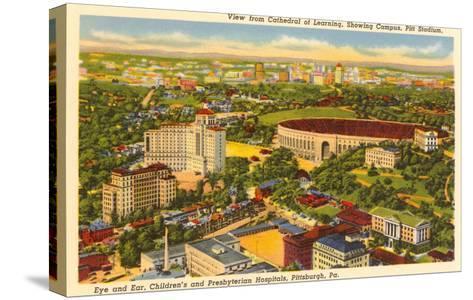 Pitt Stadium, Hospitals, Pittsburgh, Pennsylvania--Stretched Canvas Print