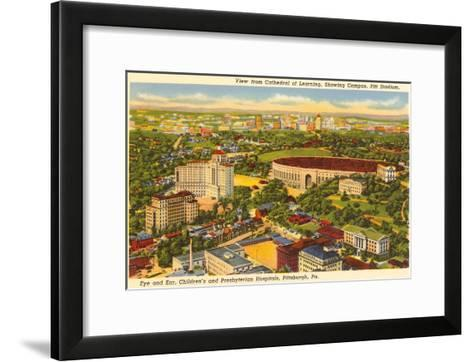 Pitt Stadium, Hospitals, Pittsburgh, Pennsylvania--Framed Art Print