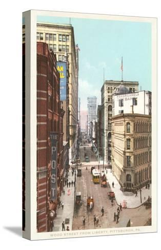 Wood Street, Pittsburgh, Pennsylvania--Stretched Canvas Print