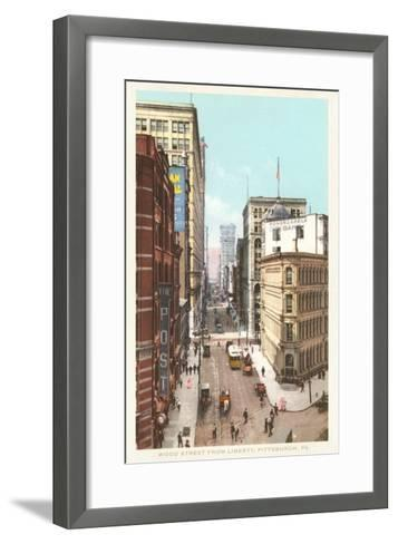 Wood Street, Pittsburgh, Pennsylvania--Framed Art Print
