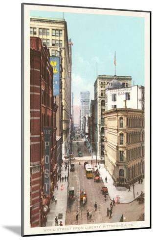 Wood Street, Pittsburgh, Pennsylvania--Mounted Art Print
