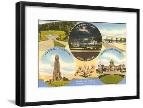 Views of Western Pennsylvania--Framed Art Print
