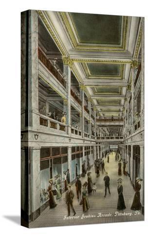 Interior, Jenkins Arcade, Pittsburgh, Pennsylvania--Stretched Canvas Print