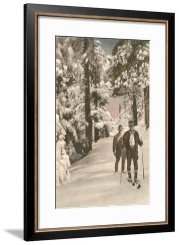 Cross-Country Skiers--Framed Art Print