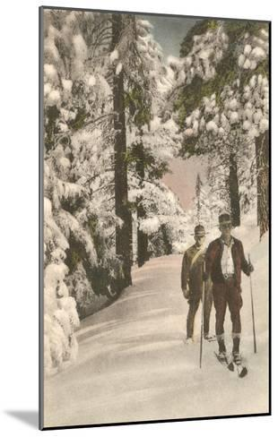 Cross-Country Skiers--Mounted Art Print