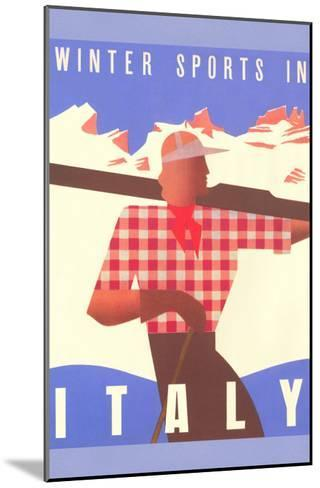 Winter Sports in Italy, Graphics--Mounted Art Print