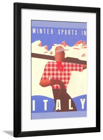 Winter Sports in Italy, Graphics--Framed Art Print