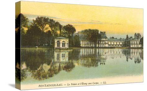 Carp Pond by Fontainebleau Palace, France--Stretched Canvas Print