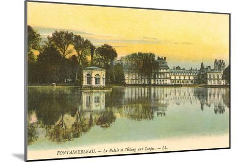Carp Pond by Fontainebleau Palace, France--Mounted Art Print