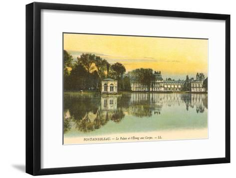 Carp Pond by Fontainebleau Palace, France--Framed Art Print