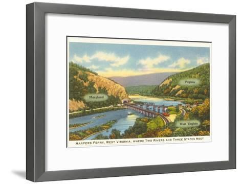 Harper's Ferry, West Virginia--Framed Art Print