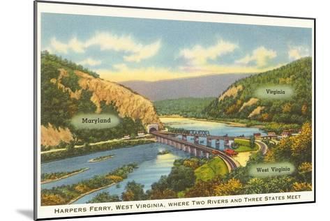 Harper's Ferry, West Virginia--Mounted Art Print
